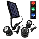 Ankway LED Teichbeleuchtung Solar Solarspots Unterwasserstrahler...