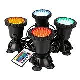 GreenSun LED Lighting Gartenteich Lampe RGB Aquarium Licht 8W...