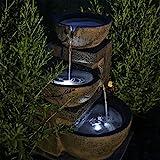 CLGarden Solar Springbrunnen NSP12 mit Akku und LED Beleuchtung für Garten...