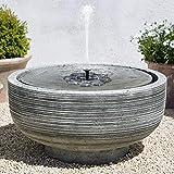 TekHome 2019 Solar-Wasserbrunnen, Vogelbad, Solar-Wasser-Eigenschaften für...