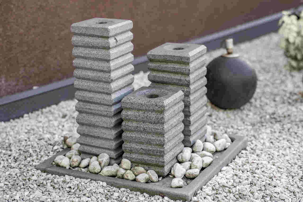 Solarbrunnen Steinoptik